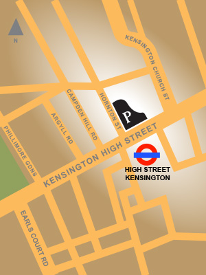 Map of Piano Kensington's location